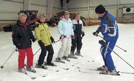Skilehrer beim Unterricht