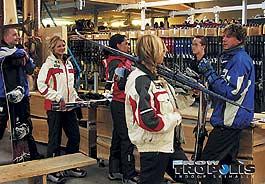 Verleih von Ski, Snowboards, Schuhe, Bekleidung, ...