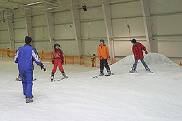 Mit der Schule in der Skihalle