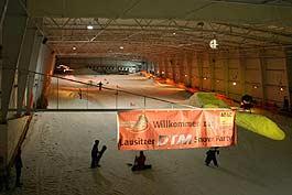 Feiern in der Skihalle
