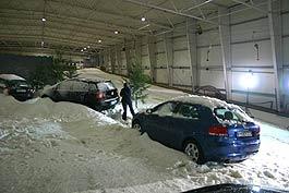 Präsentation in der Skihalle